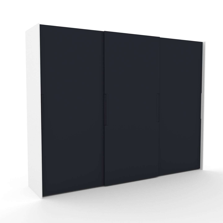 MYCS Kleiderschrank Weiß - Individueller Designer-Kleiderschrank - 304 x 233 x 65 cm, Selbst Designen, Böden/Schublade Glasfront/Kleiderlift/Kleiderstange