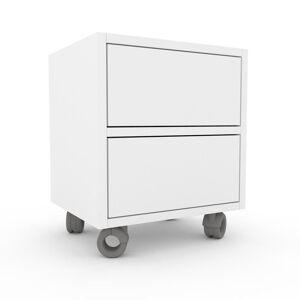 MYCS Bücherregal Weiß - Modernes Regal für Bücher: Schubladen in Weiß - 41 x 49 x 35 cm, Individuell konfigurierbar