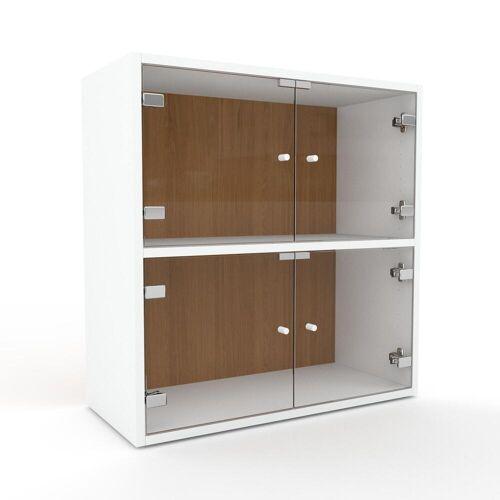 MYCS Kommode Kristallglas klar - Design-Lowboard: Türen in Kristallglas klar - Hochwertige Materialien - 77 x 80 x 35 cm, Selbst zusammenstellen
