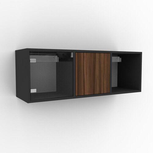 MYCS Hängeschrank Kristallglas klar - Moderner Wandschrank: Türen in Kristallglas klar - 118 x 41 x 35 cm, konfigurierbar