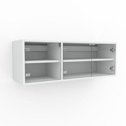 MYCS Hängeschrank Kristallglas klar - Moderner Wandschrank: Türen in Kristallglas klar - 116 x 41 x 35 cm, konfigurierbar