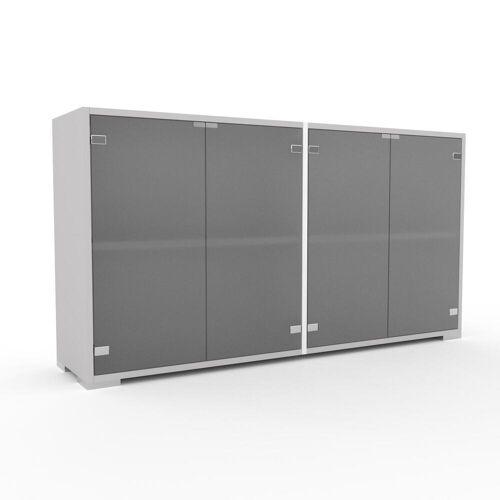MYCS Sideboard Kristallglas satiniert - Designer-Sideboard: Türen in Kristallglas satiniert - Hochwertige Materialien - 152 x 81 x 35 cm, Individuell...