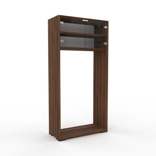 MYCS Vitrine Kristallglas klar - Moderne Glasvitrine: Türen in Kristallglas klar - Hochwertige Materialien - 77 x 158 x 35 cm, Selbst zusammenstellen