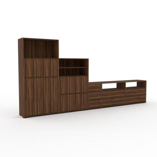 MYCS Highboard Nussbaum - Highboard: Schubladen in Nussbaum & Türen in Nussbaum - Hochwertige Materialien - 339 x 158 x 35 cm, Selbst designen