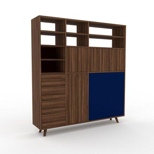 MYCS Highboard Nussbaum - Highboard: Schubladen in Nussbaum & Türen in Nussbaum - Hochwertige Materialien - 154 x 168 x 35 cm, Selbst designen