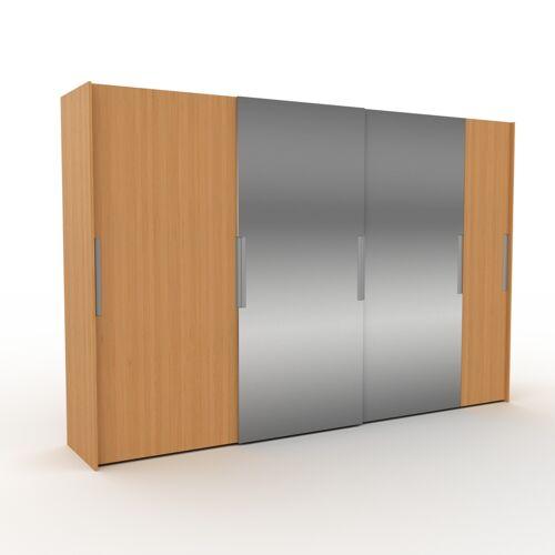 MYCS Kleiderschrank Eiche, Holz - Individueller Designer-Kleiderschrank - 354 x 233 x 65 cm, Selbst Designen, Hosenhalter