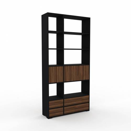 MYCS Highboard Nussbaum - Highboard: Schubladen in Nussbaum & Türen in Nussbaum - Hochwertige Materialien - 116 x 235 x 35 cm, Selbst designen