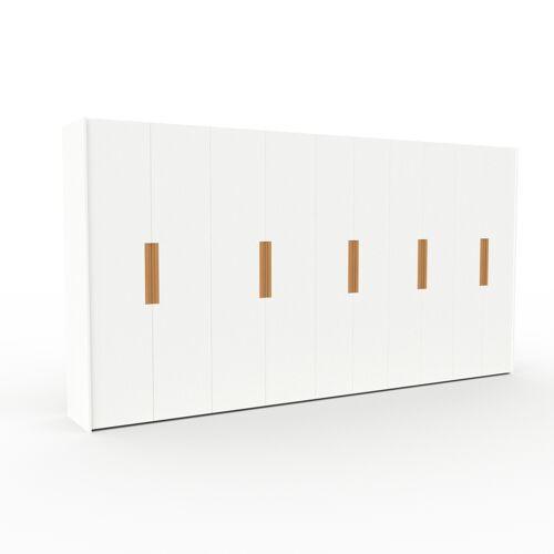 MYCS Kleiderschrank Weiß - Individueller Designer-Kleiderschrank - 444 x 233 x 62 cm, Selbst Designen, Kleiderlift/Hosenhalter