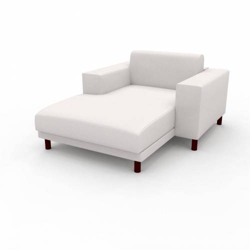 MYCS Relaxsessel Weiß - Eleganter Relaxsessel: Hochwertige Qualität, einzigartiges Design - 128 x 75 x 162 cm, Individuell konfigurierbar