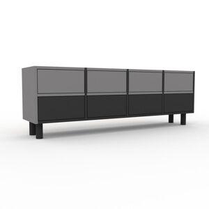 MYCS Kommode Graphitgrau - Design-Lowboard: Schubladen in Graphitgrau - Hochwertige Materialien - 156 x 53 x 35 cm, Selbst zusammenstellen