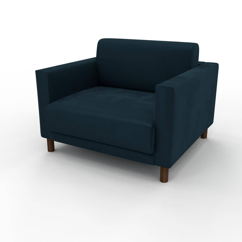 MYCS Sessel Samt Petrolblau - Eleganter Sessel: Hochwertige Qualität, einzigartiges Design - 104 x 75 x 98 cm, Individuell konfigurierbar