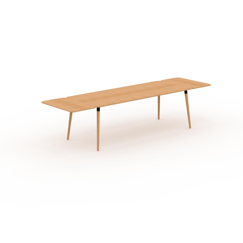 MYCS Designer Esstisch Massivholz Buche, Holz - Individueller Designer-Massivholztisch: Einzigartiges Design - 320 x 75 x 90 cm, Modular