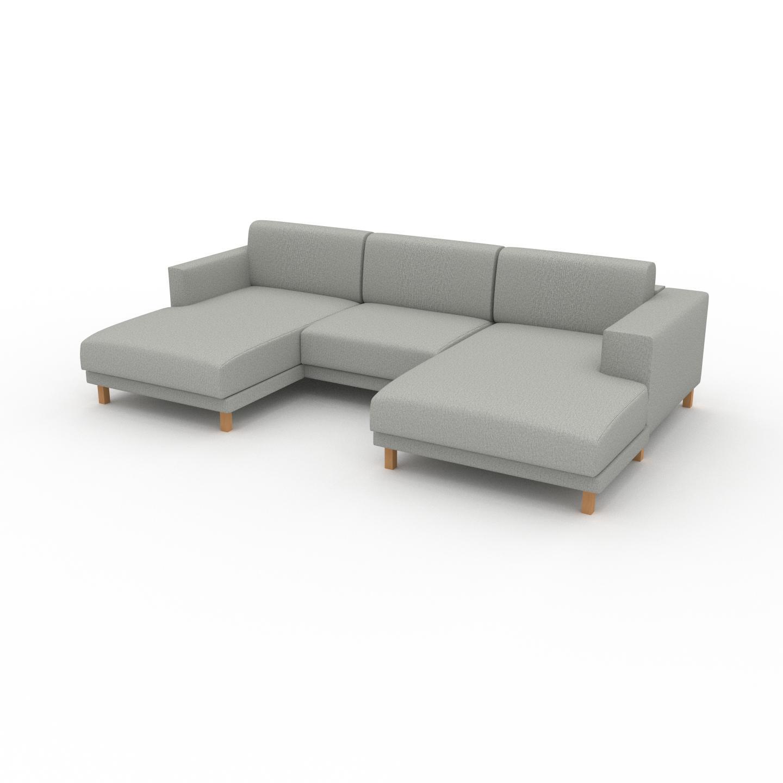 MYCS Wohnlandschaft Lichtgrau - Flexible Designer-Wohnlandschaft: Hochwertige Materialien, einzigartiges Design - 276 x 75 x 162 cm, Konfigurator
