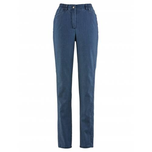 Avena Damen Soft-Jeans Figurwunder Blau