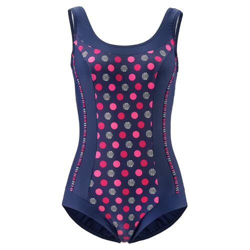 Avena Damen Softschalen-Badeanzug Dot-Dessin Blau