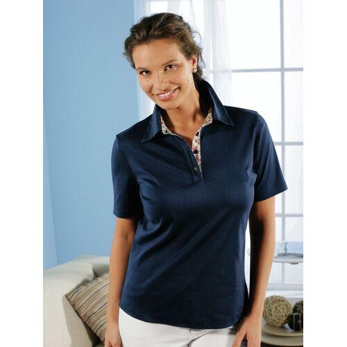 Avena Damen Aloe vera-Polo-Shirt Blau
