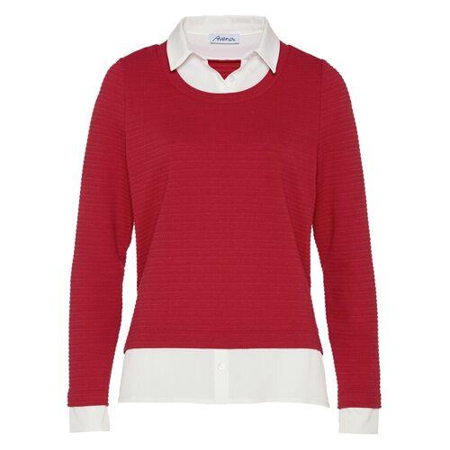 Walbusch Damen 2in1 Blusenshirt Rot