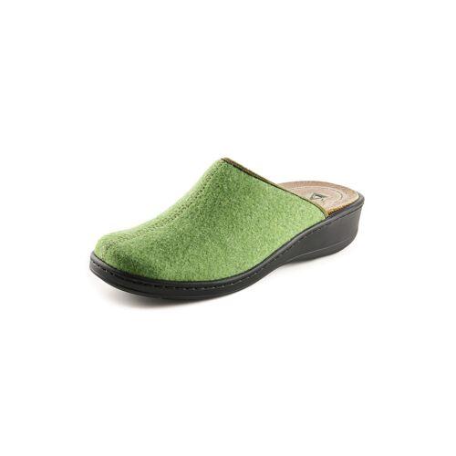 Avena Damen Magnetfußbett-Pantolette Wollfilz Grün
