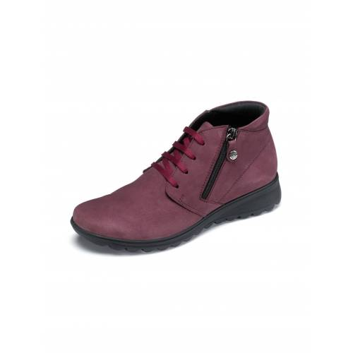 Avena Damen Luftkissen-Nubuk-Boots Ultraleicht Rot
