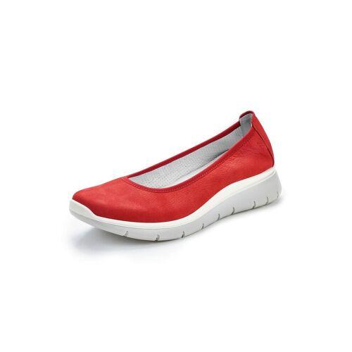 Avena Damen Bequem-Ballerina Softgefühl Rot