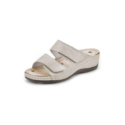 Avena Damen Magnetfußbett-Klett-Pantolette Grau