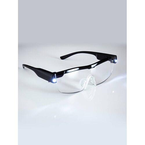 Avena Herren LED-Vergrößerungsbrille Schwarz