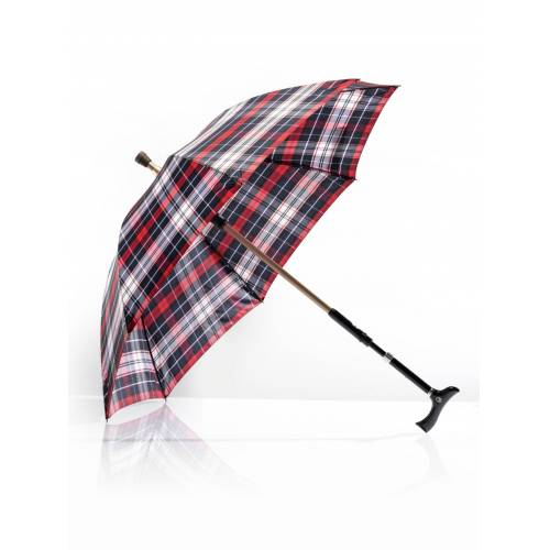 Avena Herren 2 in1-Regenschirm mit Gehstock Rot