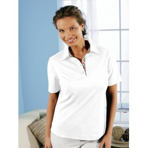 Avena Damen Aloe vera-Polo-Shirt Weiß
