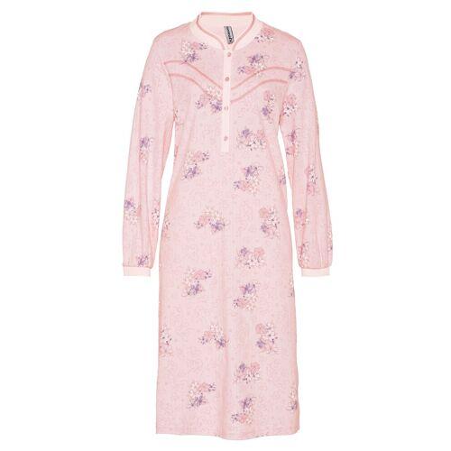 Avena Damen Thermo-Nachthemd Blütendessin Rosé