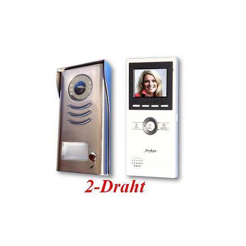 Anykam DT591+DT16 Video Klingelanlage mit Kamera Türsprechanlage 2-Draht Technik