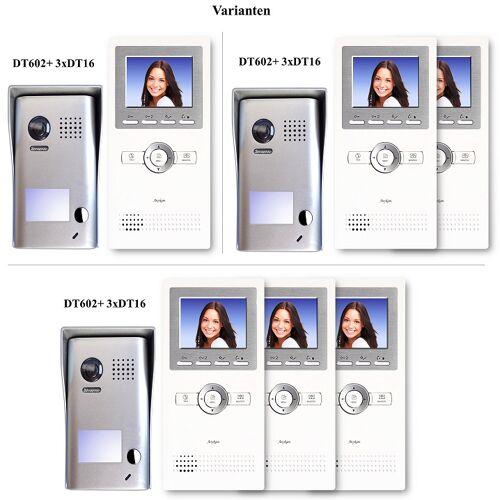 Anykam DT602+DT16-Var Videosprechanlagen Klingelanlagen mit Kamera, Monitor weiü schmal