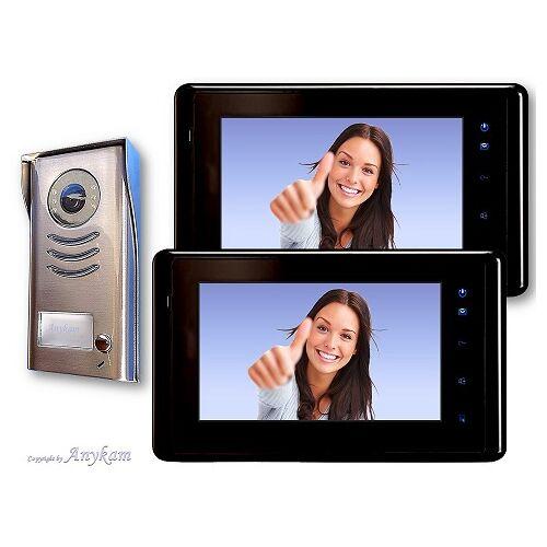 Anykam DT591+ 2x DT27-B Video Türsprechanlage Gegensprechanlage Kamera Klingel 2-Draht