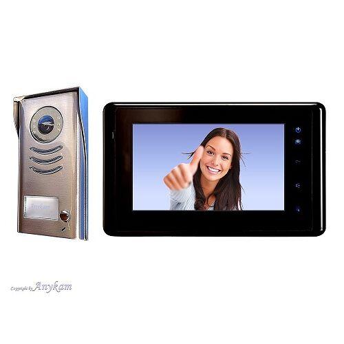 Anykam DT591+ DT27-B Video Türsprechanlage Gegensprechanlage Kamera Klingel 2-Draht
