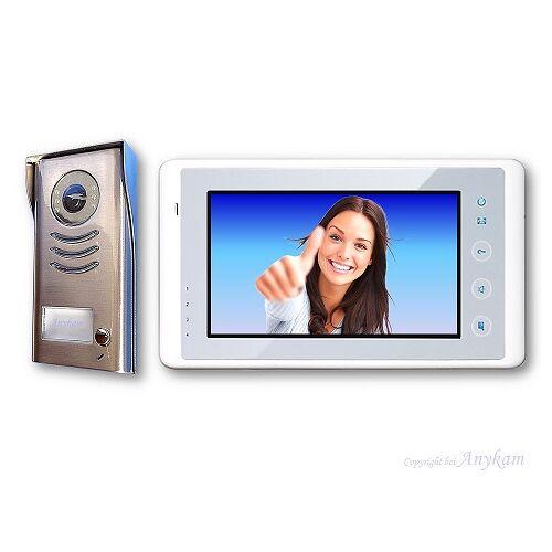 Anykam DT591+DT27-W Video Türsprechanlage Gegensprechanlage Kamera Klingel 2-Draht