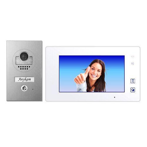Anykam DT597+ DT47M-W Videosprechanlage Türanlage Video Gegensprechanlage 2-Draht