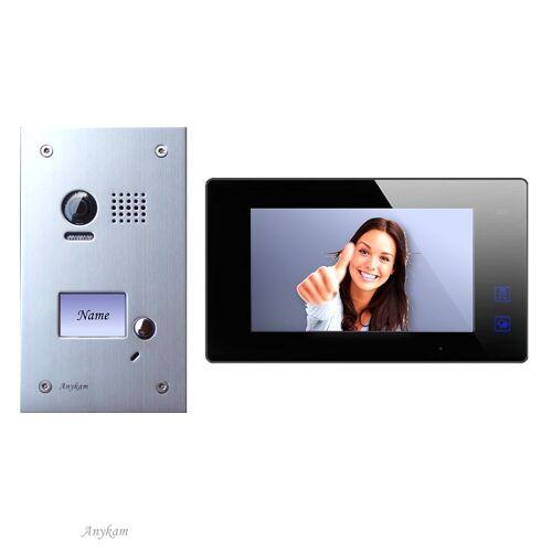 Anykam DT603+ DT47M-B Videosprechanlage Türanlage Video Gegensprechanlage 2-Draht