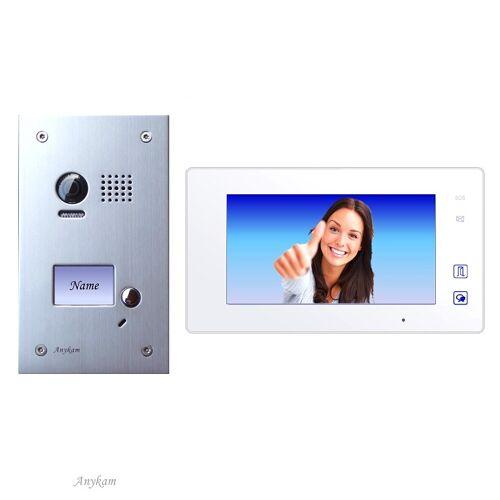 Anykam DT603+ DT47M-W Videosprechanlage Türanlage Video Gegensprechanlage 2-Draht