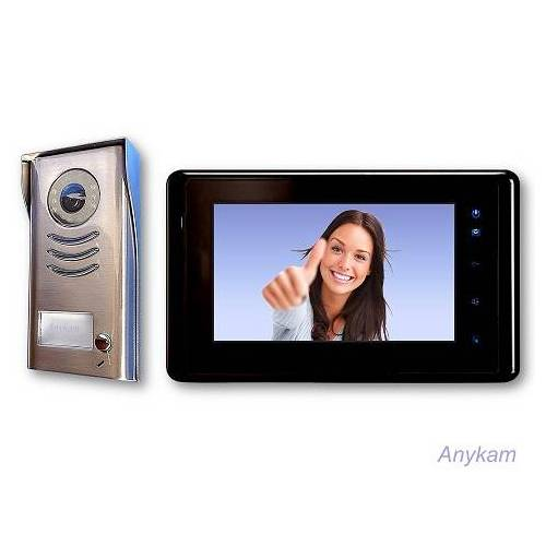 Anykam DT591+DT27SD-B Video Türsprechanlage Gegensprechanlage Kamera Klingel 2-Draht