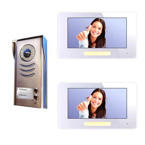 Anykam DT592+DT37 Video Türsprechanlage Klingelanlage mit Kamera 2-Familienhaus 2Draht