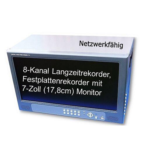 Anykam 8-KANAL FESTPLATTENREKORDER H.264 Monitor TFTDVR-6108V