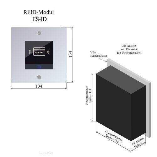 Anykam ES-ID Edelstahl RFID-Modul 2Draht Türsprechanlage für Briefkastenanlage