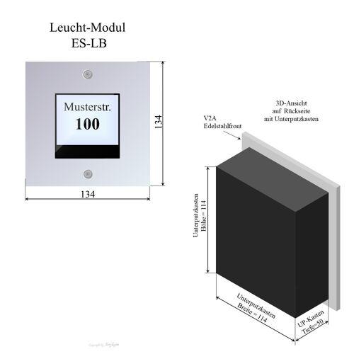 Anykam ES-LB Edelstahl LB-Modul 2Draht Türsprechanlage für Briefkastenanlage