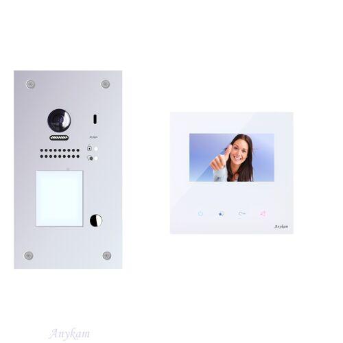 Anykam DT607F-S1 + DX439 Videosprechanlage Türanlage Gegensprechanlage RFID Türöffner