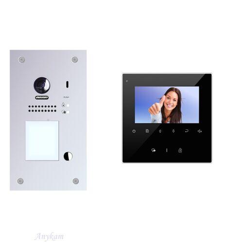 Anykam DT607F-S1 + DT43B Videosprechanlage Türanlage Gegensprechanlage RFID Türöffner