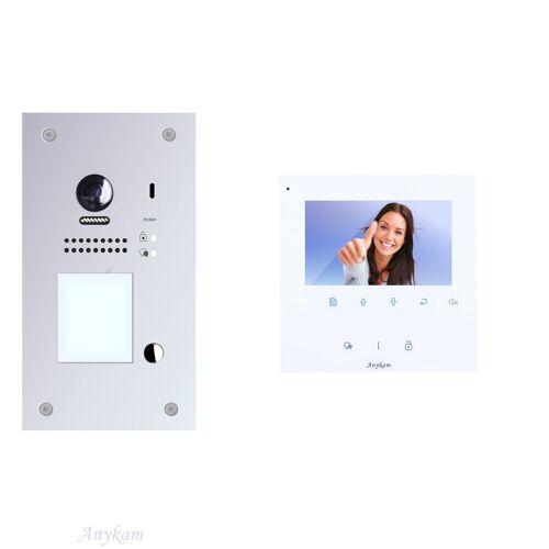 Anykam DT607F-S1 + DT43 Videosprechanlage Türanlage Gegensprechanlage RFID Türöffner