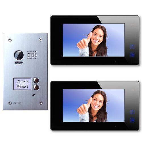 Anykam DT603D+ 2x DT47M-B Video Türsprechanlage Klingelanlage Kamera Zweifamilienhaus