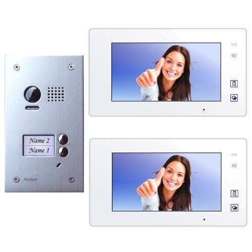 Anykam DT603D+ 2x DT47M-W Video Türsprechanlage Klingelanlage Kamera 2-Familienhaus