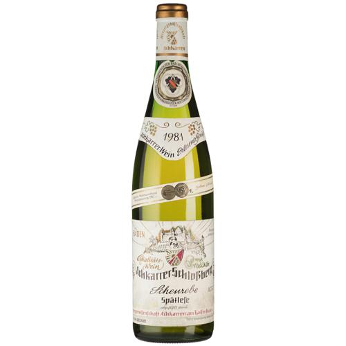 WG Achkarren Schloßberg Scheurebe Spätlese - 1981 - WG Achkarren - Deutscher Weißwein