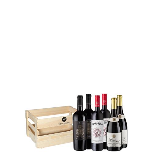 6er-Paket Weinkiste Rot - Weinpakete