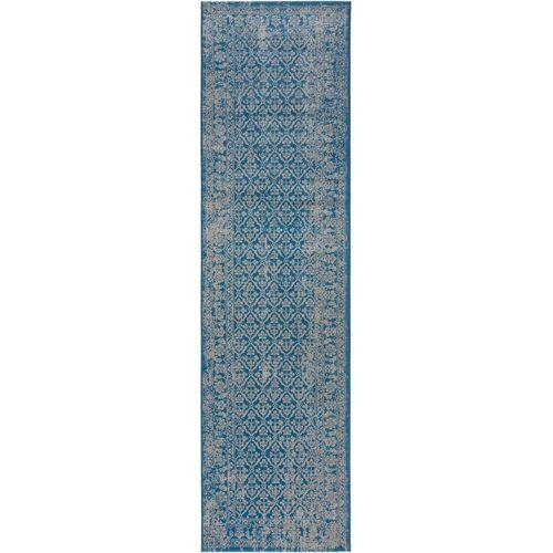 benuta CLASSIC Läufer für Flur Antique Blau 80x300 cm